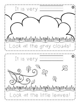 Knighton Creations - Look at The Weather! Book - Spelling & Weather Review