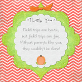 Knighton Creations Pumpkin & Rabbit Themed Field Trip Chaperone Thank You Card