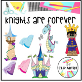 Knights and Dragons Clipart