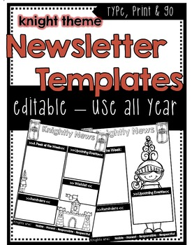Knights/Castle Newsletter Template ***Editable***