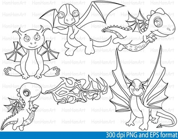 Knights Heroes Dragons Clip Art SCHOOL outline stamp coloring line Print -107