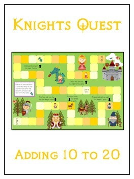 Knight's Quest Math Folder Game - Common Core - Adding 10 to 20