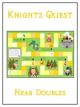 Knight's Quest Math Folder Game - Common Core - Adding Near Doubles