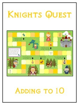 Knight's Quest Math Folder Game - Common Core - Adding to 10
