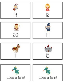 Knight's Quest Math Folder Game - Common Core - Counting On From Number