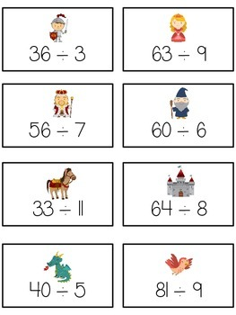 Knight's Quest Math Folder Game - Common Core - Division - Dividing Numbers