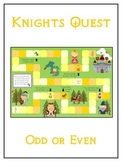 Knight's Quest Math Folder Game - Common Core - Even and Odd Numbers