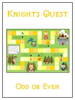 Knight's Quest Math Folder Game - Common Core - Even and O