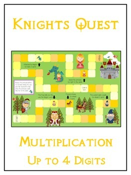 Knight's Quest Math Folder Game - Common Core - Multiplication 1 2 3 4 Digits
