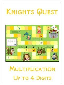 Knight's Quest Math Folder Game - Common Core - Multiplica