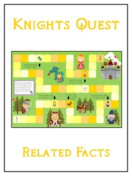 Knight's Quest Math Folder Game - Common Core - Related Facts