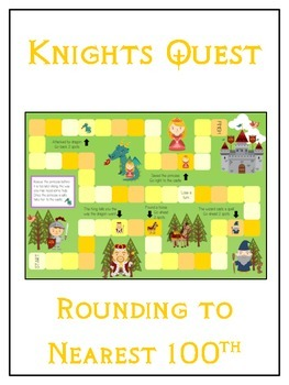 Knight's Quest Math Folder Game - Common Core - Rounding to Nearest 100th