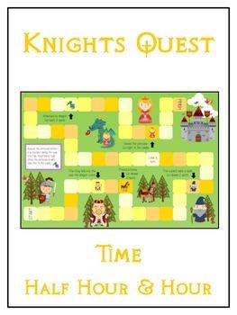 Knight's Quest Math Folder Game - Common Core - Telling Ti