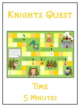 Knight's Quest Math Folder Game - Common Core - Telling Time within 5 Minutes