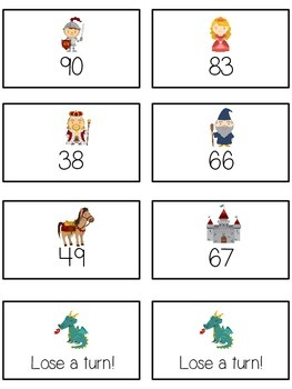 Knight's Quest Math Folder Game - Common Core - Ten More and Ten Less