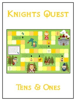 Knight's Quest Math Folder Game - Common Core - Tens and O