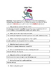 Knights Reading Comprehension Activity
