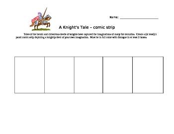 Knight's Tale Comic