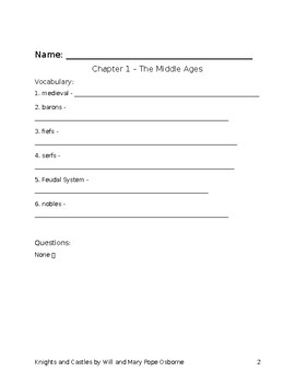 Knights and Castles student packet