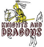 """""""Knights and Dragons"""" King, Queen, Castle, Medieval, Fairy"""