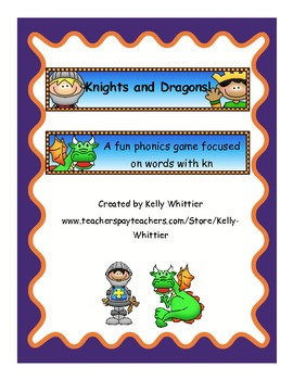 Knights and Dragons Phonics Card Game (kn consonant digraph)