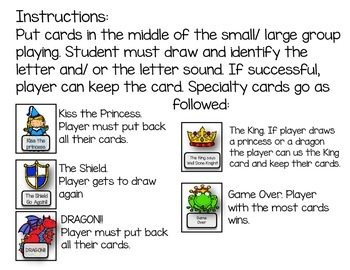 Knights and Princesses: A Letter/ Sound game