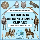 Medieval Knights in Shining Armor Photo Clip Art