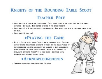 Knights of the Rounding Table Scoot