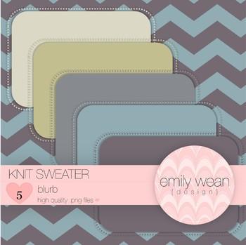 Knit Sweater - Blurb FREEBIE