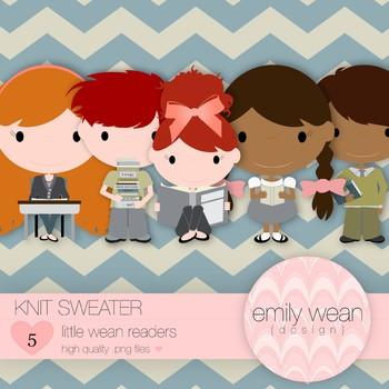 Knit Sweater - Little Readers Clip Art