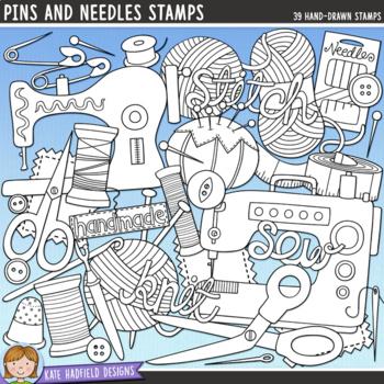 "Knitting and Sewing Clip Art: ""Pins and Needles"""