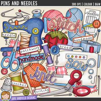 "Knitting and Sewing Clip Art: ""Pins and Needles"""