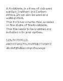 Knobkierrie Font