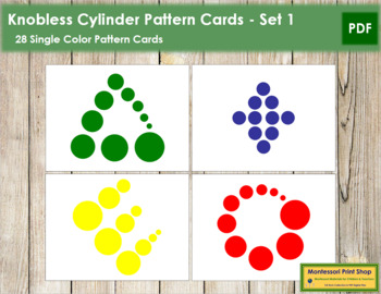 Knobless Cylinder Pattern Cards - Set 1