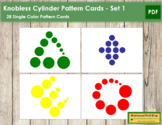 Montessori Knobless Cylinder Pattern Cards - Set 1