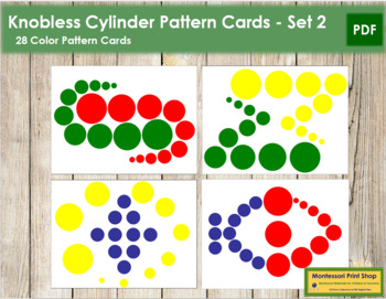 Knobless Cylinder Pattern Cards - Set 2