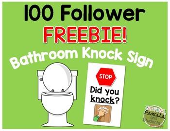 Knock Bathroom Sign - 100 Follower FREEBIE!