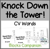 Knock Down the Tower:  Worksheets for CV words