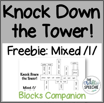Knock Down the Tower Freebie: Worksheets for Mixed /l/