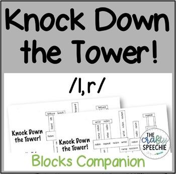 Knock Down the Tower: Levelled Worksheets for /l, r/