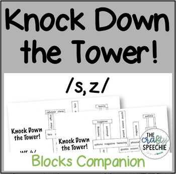 Knock Down the Tower: Levelled Worksheets for /s, z/