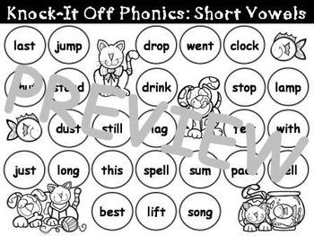 Knock It Off Phonics: Short Vowels Bundle
