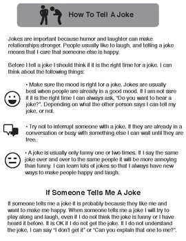 Knock Knock Jokes : Social Skills for Individuals on the Autism Spectrum