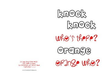 Knock Knock Valentine's Day Card