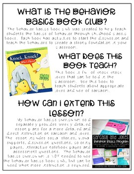 Knock, Knock, Who's There?- Behavior Basics Book Club