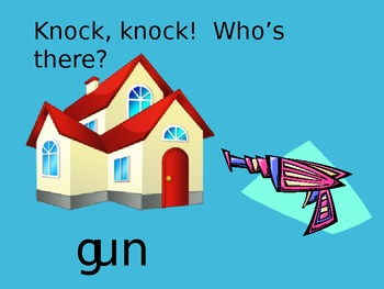 Knock, Knock! Who's there? Word Family - un