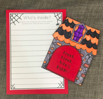 Who's inside the haunted house? {a fun & EASY halloween writing craft}