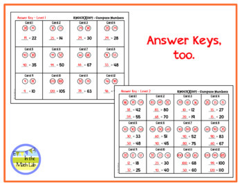 Knock Out Task Cards - Compare Numbers **2 Levels**