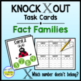 Knock Out Task Cards - Fact Families **2 Levels**