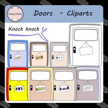Knock knock ! Doors - Cliparts